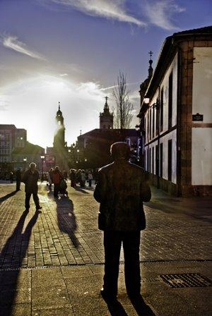 Fotografía del centro de Lugo